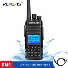 New Retevis RT83 10W DMR Digital Walkie Talkie (GPS) IP67 Waterproof Dustproof UHF Portable Two Way Amateur Radio+Program Cable
