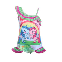 New Toddler Unicorn for girl one piece baby girls unicorn kid bathing suit swimming costume 0372