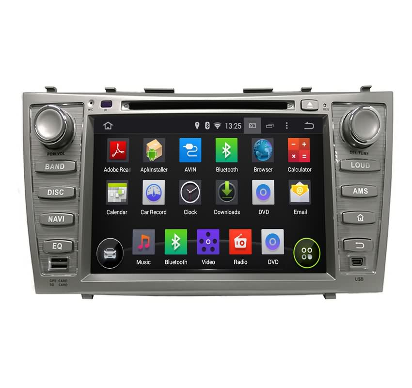 8 inch 2 din car stereo for toyota camry 2006 2011 android 5 1 os quad core. Black Bedroom Furniture Sets. Home Design Ideas