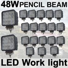 THTMH 20X48 W Spot Lápiz LED Lámpara de Luz de Trabajo del Carro del coche Del Vehículo Que Conduce el Barco