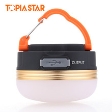 TOPIA STAR USB Rechargeable Camping Lantern Waterproof Power Bank Brightness Portable Mini Led Tent Light with Magnet