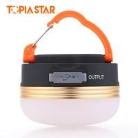 TOPIA STAR USB Rechargeable Camping Lantern Waterproof Power Bank Brightness Portable Led Light Mini Tents Lights
