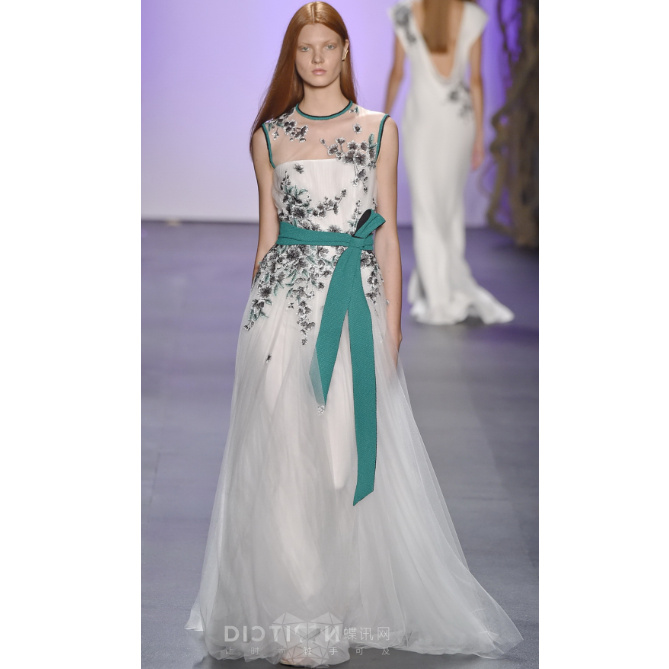 d65c98c1987 High Quality European Fashion 2016 White Women Summer Dress Royal Wind  Perspective Gauze Embroidery Formal Catwalk Maxi Dresses