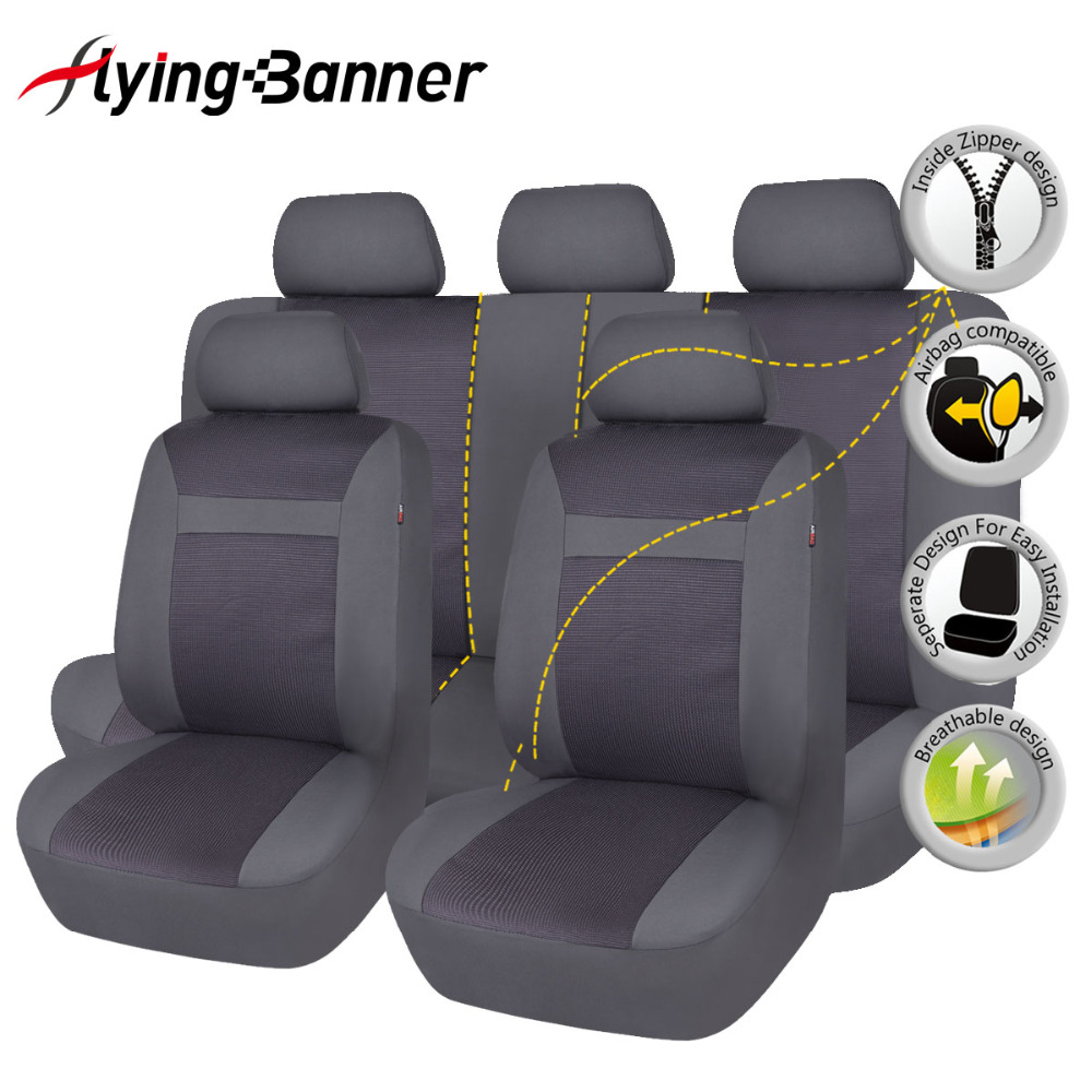 Polyester Full font b Car b font Seat Cover Set Universal Fit CarSeat Cover font b