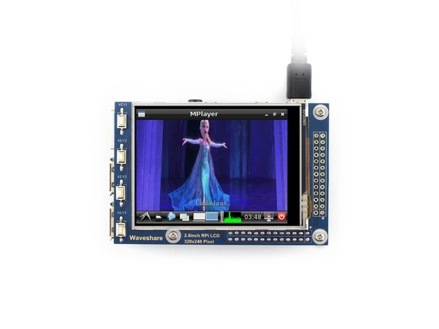 Waveshare 2.8inch RPi LCD (A) Resistive Touch Screen TFT Display Designed for Raspberry Pi 320*240 resolution SPI Interface
