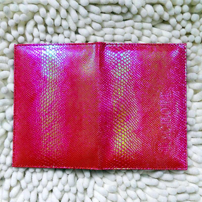 Luxus Nette Serpentin Passport Abdeckung Frauen Russland Mädchen Reise Fall für Reisepass Rosa Passport Leder Abdeckungen für Pässe