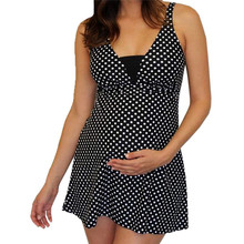 Летний модный женский сексуальный синий цельный купальник в горошек с принтом раздельный бикини для беременных женский купальник 4JJ