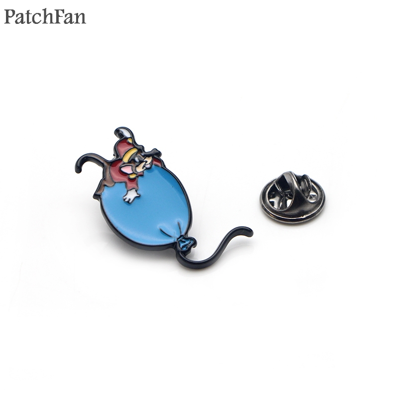 Adroit Patchfan Cartoon Mouse Balloon Zinc Tie Diy Funny Pins Backpack Clothes Brooches For Men Women Hat Decoration Badges Medal A1376 Home & Garden