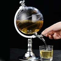 Creative Mini Globe Water Dispenser Globes Beer Whisky Machine Miniature Sphere Drink Machines Hip Flasks Home Decoration