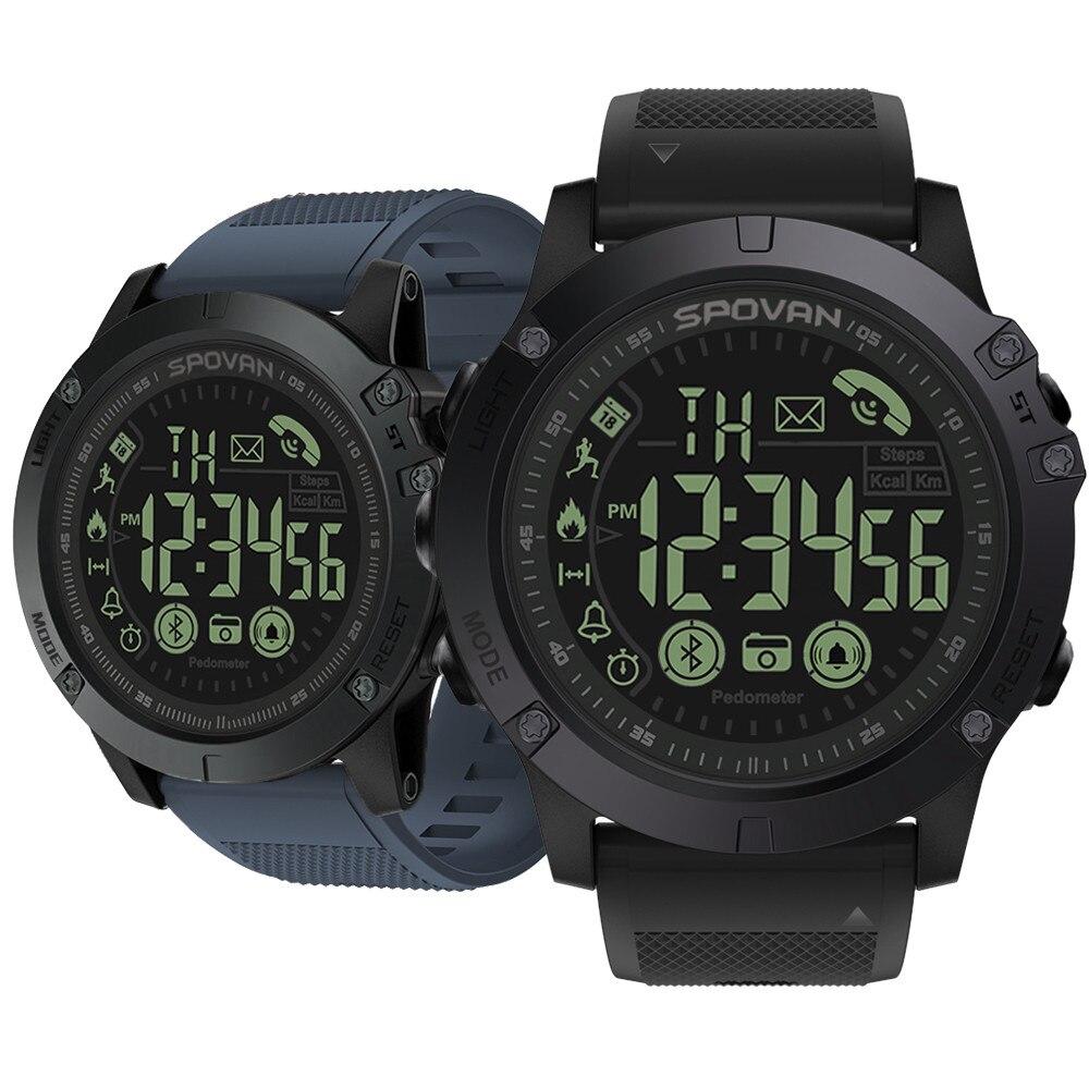 Top di Marca di Punta Multifunzionale Robusto Smartwatch 33 mesi di Tempo di Standby 24 h Monitoraggio per Tutte Le Stagioni Degli Uomini di Sport Militare orologio