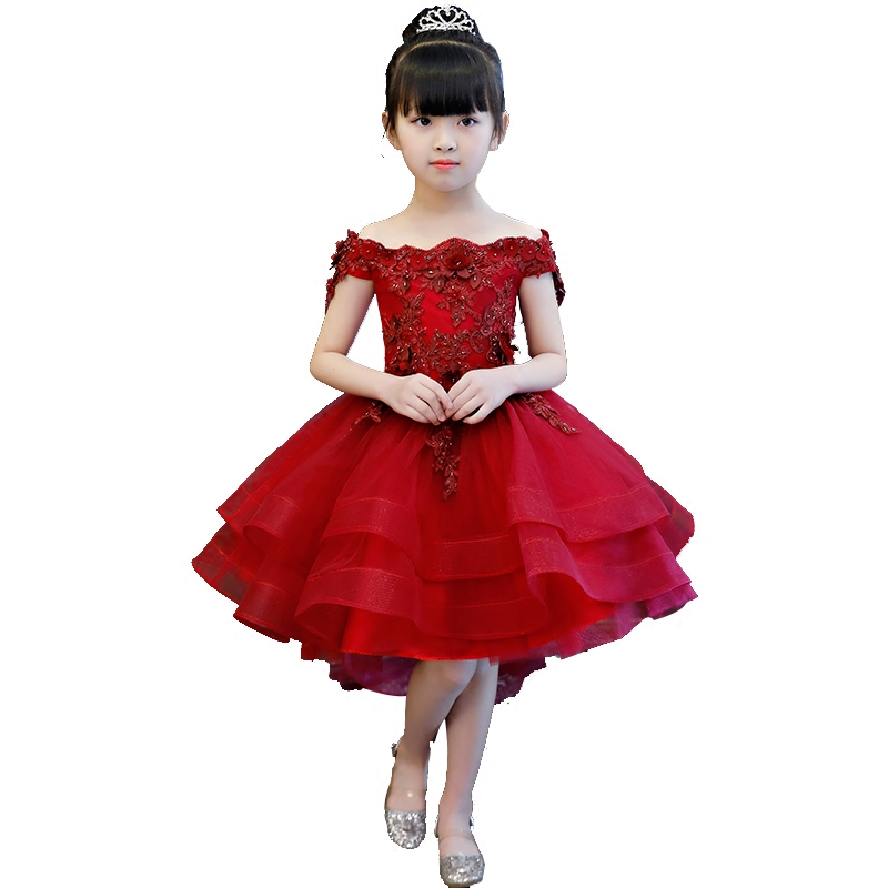 ... Princess Dress Off Shoulder Gowns. . 2-12 Years Ball Gown For Girl Kids  Communion Pageant Gown Appliques Lace Floral Dresses. sku  32868233355 6c7518831abc