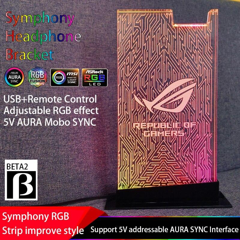 Support casque RGB ROG symphonie Streamer 5 V 3 P support casque acrylique support écouteur pratique 5 V 3Pin ASUS AURA SYNC