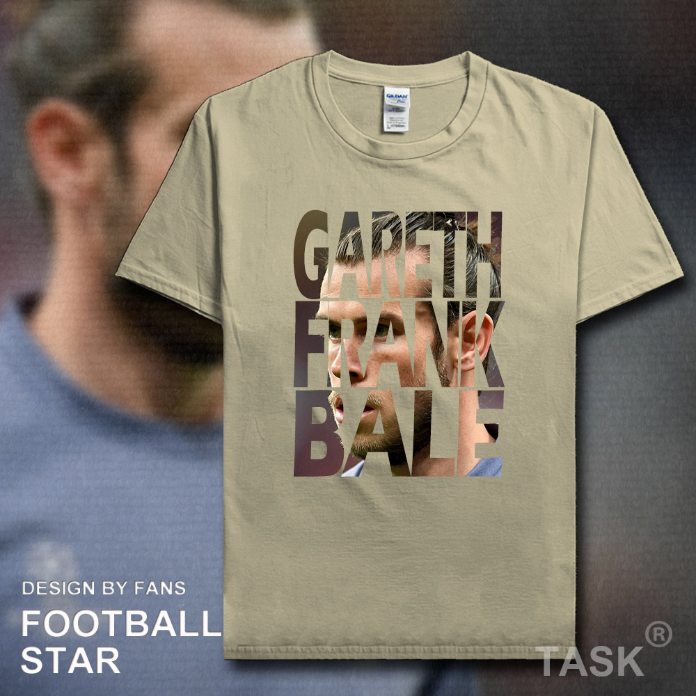 Gareth Bale t shirt 2018 jerseys Wales real footballer star tshirt 100% cotton fitness t-shirt Madrid clothing Casual summer 02