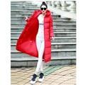 2017 Para Baixo Casaco Parkas Inverno das Mulheres Jaquetas Longo Casaco Vermelho mulheres Cotto Alta Qualidade Quente Feminino Espessamento Quente Capuz Parka b90