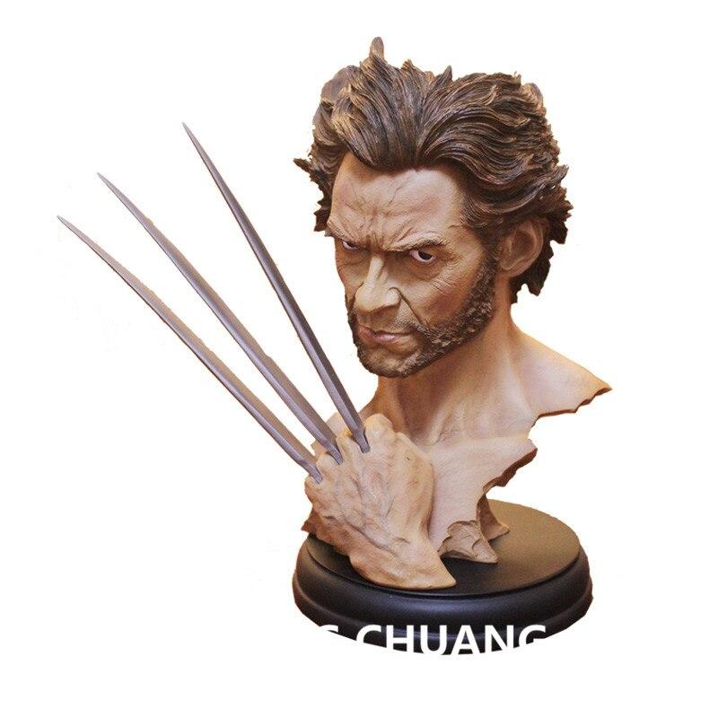 Superhero The X-Men Statue Wolverine Bust 1:6 Head Portrait GK Resin Action Figure Collectible Model Toy 30 CM Q223