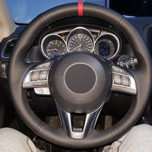 Image 5 - HuiER Hand Sew Car Steering Wheel Cover Breathable Red Marker For Mazda CX 5 CX5 Atenza 2014 New Mazda 3 CX 3 2016 Scion iA 2016