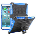 For iPad Air Antiskid Tablet Case Rugged Rubber Armor Hard PC+TPU Hybrid Kickstand Cover Tablets Cases For Apple iPad 5