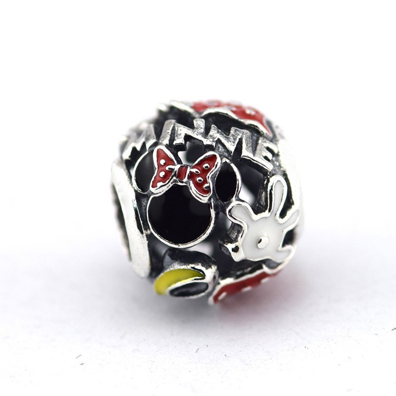 100% 925 Sterling Silber Minnie Mania Europäischen Charme Perlen Für Schmuck Herstellung Passend Original Charms Armband Berloque