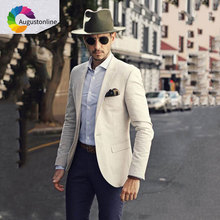 Ivory Men Classic Suits 2019 Latest Coat Pant Designs Slim Fit Mens with Pants Casual Groom Tuxedo Costume Homme Ternos