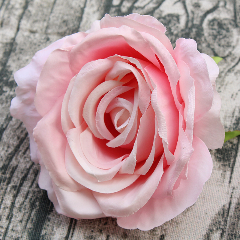 50pcs/lot Artificial Decorative 13cm Rose Heads High Quality Flower Simulation DIY Silk Floral For Wedding Party Home Decoration