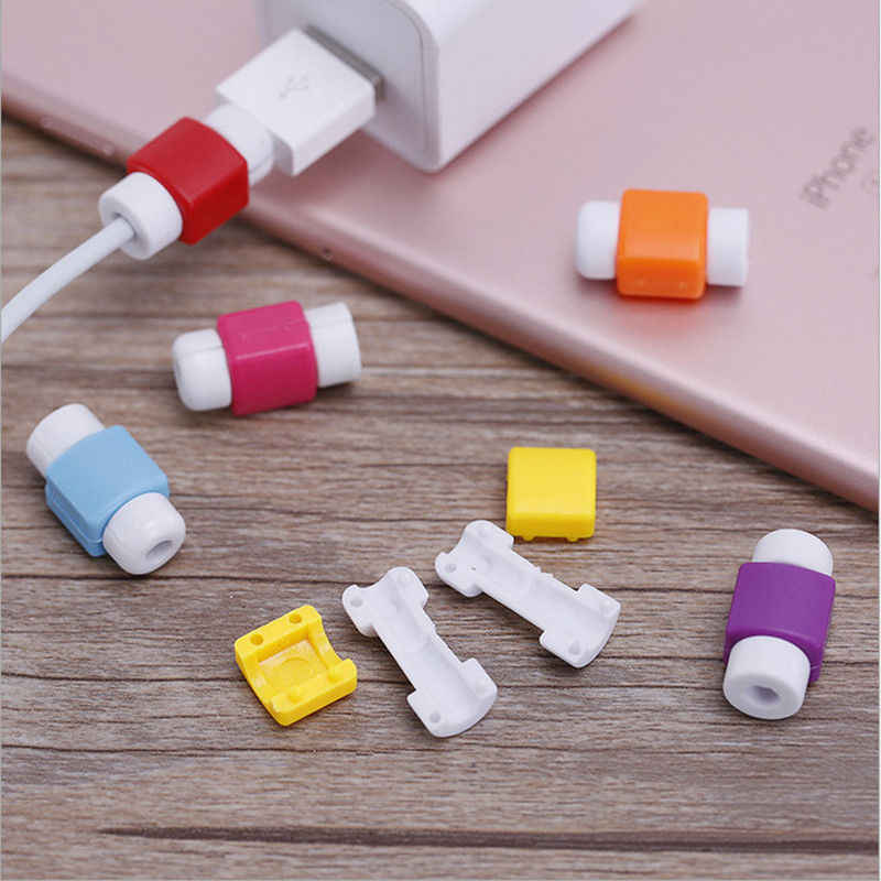 KALCAS Candy  USB Cable Earphones Protector For Iphone 7 7 Plus 6 6S Plus 5 5S SE 4 4S Cases Cover For Samsung S7 S6 S5 S4 Mini