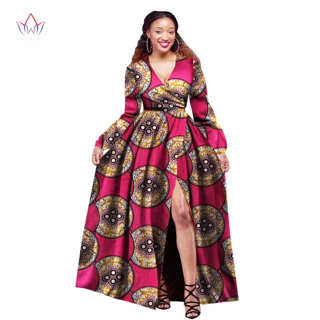 african dresses for women long sleeve slip party dresses plus size