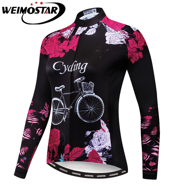 8d68348b1 Weimostar Team Women Cycling Jersey Spring Autumn Racing Sport Bicycle  Clothing Camisa Ciclismo Quick Dry MTB Road Bike Shirt
