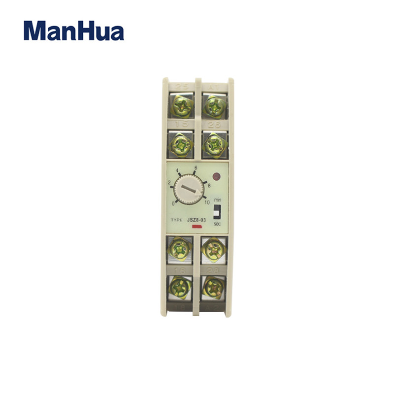 ManHua Time Switch High Quality Delay Timer Relay 220VAC ON JSZ8-A Time Relay Switch manhua weekly programmable 220vac 25a electrical school bell timer 68 on duration 1 99 seconds program with lcd display ms316b