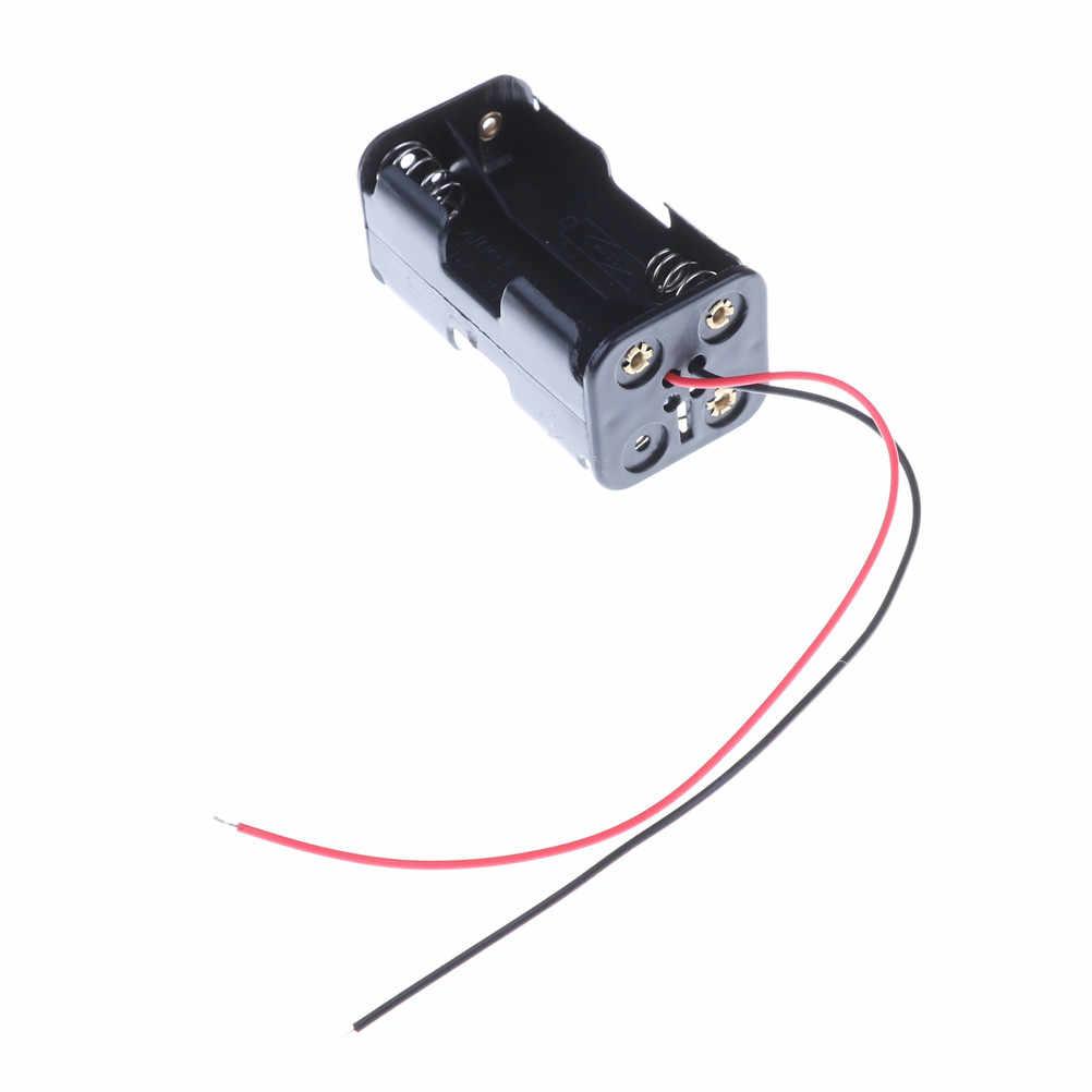 1 قطعة صندوق أسود مقصورة البطارية ل 1/8 1/10 1/16 RC نموذج 4 x AA بطارية إدراج