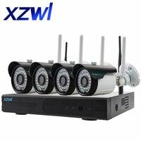 XZWL 4CH 960P HD Wireless CCTV System WIFI NVR IP Camera WI FI CCTV Camera Video