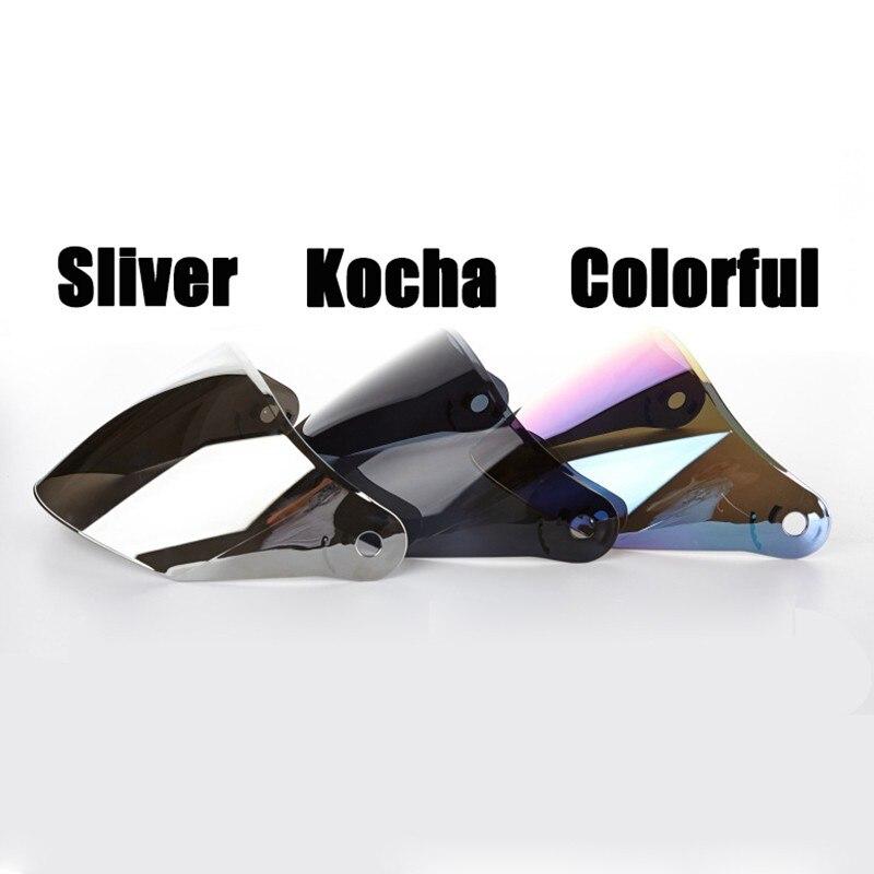 Jiekai 512 516 Motorcycle Helmet Visor Casque Moto Helmet Wind Shelter Lens Silver/transparent /colorful