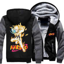 Dropshiping Naruto Hoodie Anime Uchiha Sasuke Coat Uzumaki Naruto Jacket Winter For Men Thick Zipper Sweatshirts(China)