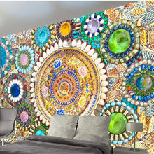 Custome Large 3D Murals Mosaic Tile Photo Wallpapers for Living Room Luxury Modern Wall Papers Home Decor Bedroom Retro Murals(China)