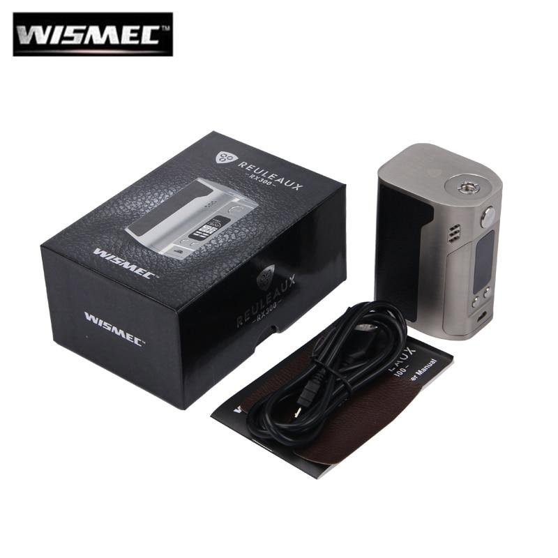 все цены на Original Wismec Reuleaux RX300 TC 300W Box Mod Powered by 18650 Batteries With Carbon Fiber Leather Version Fit For REUX Tank онлайн