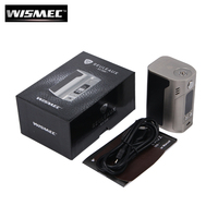 Original Wismec Reuleaux RX300 TC 300W Box Mod Powered By 18650 Batteries With Carbon Fiber Leather