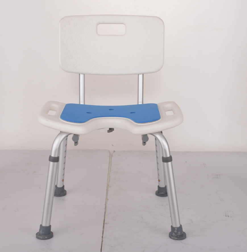 Aluminum Alloy Bbackrest Bath Stool Thickening Antiskid Bathroom Chair For The Elderly Pregnant Women And Disabled Persons Bathroom Safety & Accessories