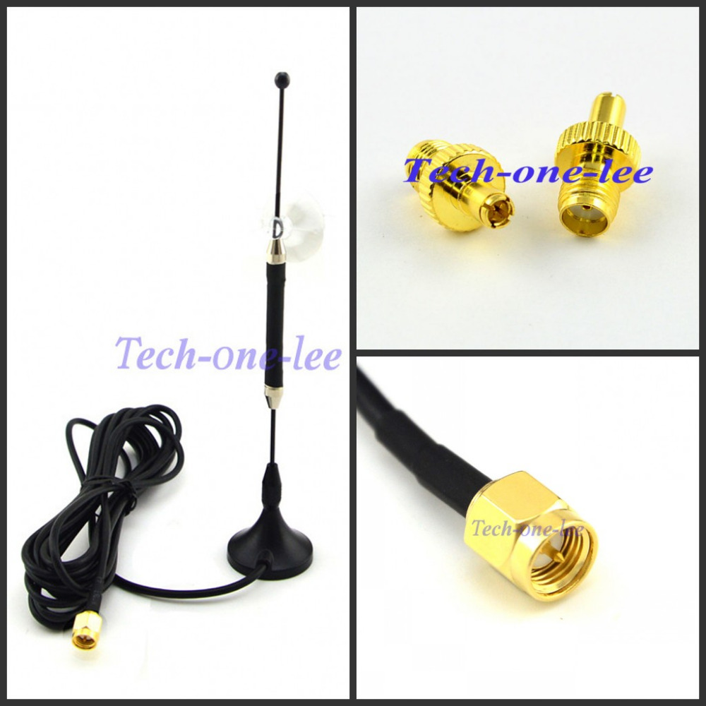4G 10dbi LTE Antenna 3g 4g lte Aerial 698-960/1700-2700Mhz with magnetic base SMA Male RG174 3M+A SMA female to TS9 male Adapter