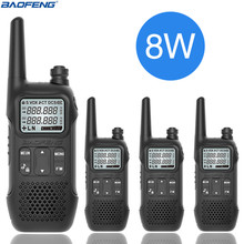 4PCSBAOFENG BF U9 8W Portable Earphone PTT MINI Walkie Talkie With Handheld Hotel Civilian Radio Comunicacion Ham HF Transceiver