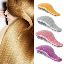 купить Magic Handle Tangle Detangling Comb Shower Hair Brush Detangler Salon Styling Tamer Exquite Cute Useful Tool Hot Hairbrush по цене 119.46 рублей