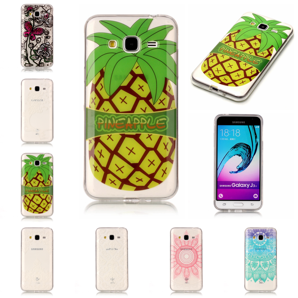 Best New Pretty Thin Soft TPUUltra Silicone Etui Carcasa Cover Phone Mobile Case For Samsun <font><b>Samsug</b></font> Galaxy <font><b>J3</b></font> <font><b>2016</b></font> image
