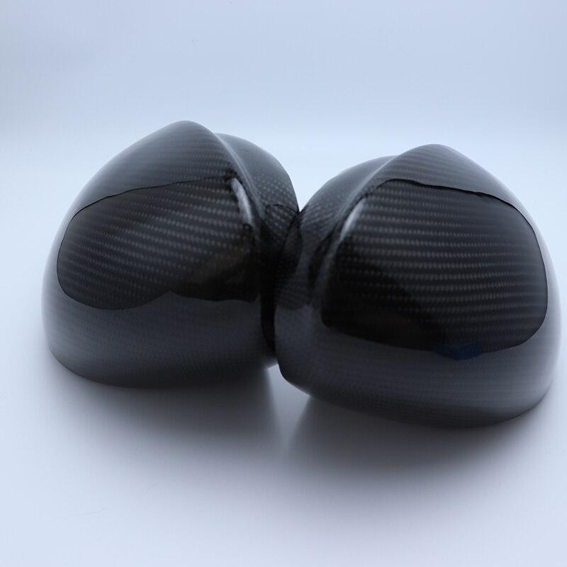 1 paire 100% réel fibre de carbone côté miroir couvercle capuchon de remplacement casquettes Shell pour Alfa Romeo Giulia 2015 2016 2017 2018 voiture style - 2