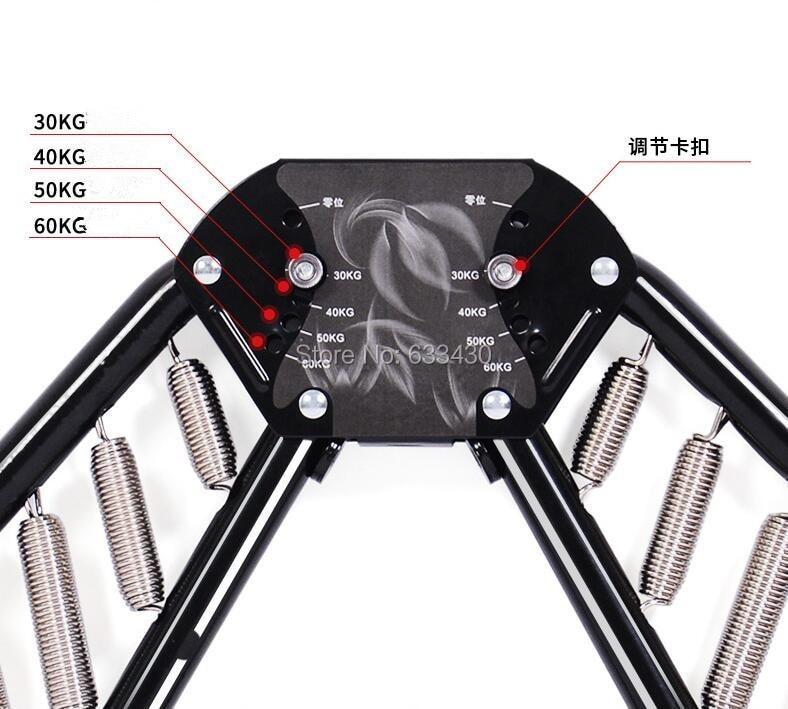все цены на Brand New spring steel Adjustable 30 40 50 60kg Hand Grip Fitness chest Expander Exerciser Tool Free shipping