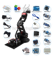6 DOF Robot Metal Alloy Mechanical Arm Clamp Claw Arduino Secondary Development Learning Suite Robotic Education
