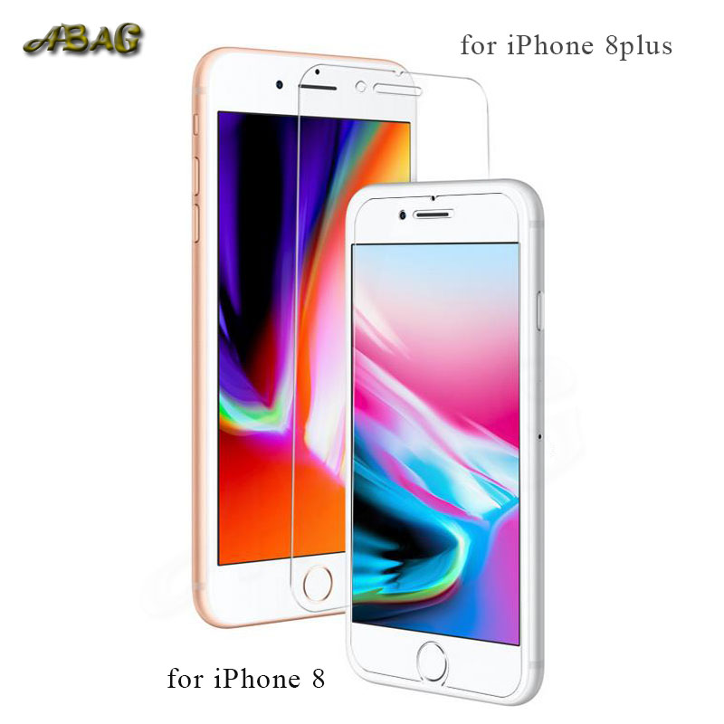 ABAG 9H tempered glass film for iphone 6 7 8 X 6plus 7plus 8plus 5 5S SE 6s Ultra-thin screen protectors guard
