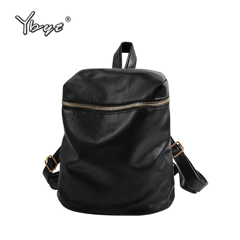 YBYT brand 2018 new preppy style solid women backpack hot sale ladies PU leather travel bag waterproof student school backpacks цена