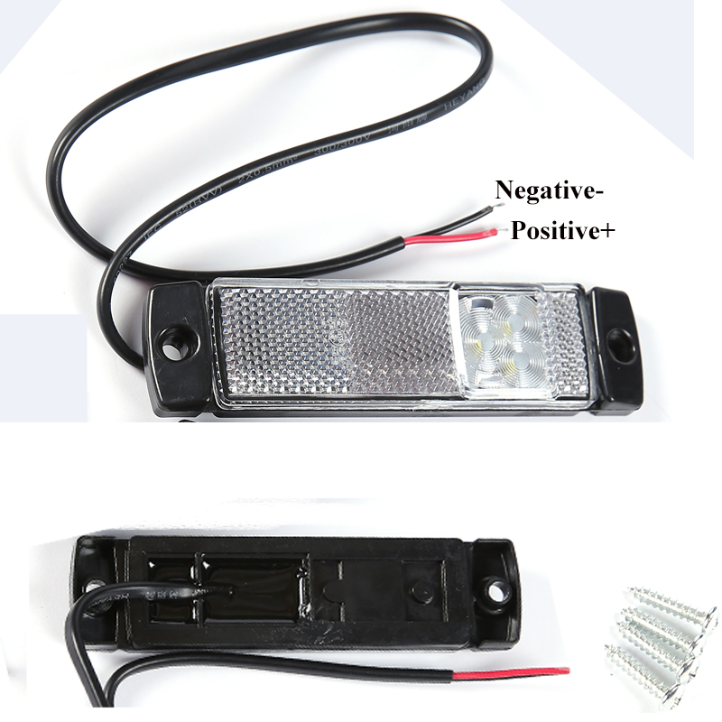 Image 2 - car accessory 2 PCS 12 V 24V LED trailer light led tail light marker  white side marker  indicator position  truck RV Camp lamp-in Truck Light System from Automobiles & Motorcycles
