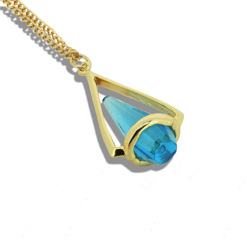1 PC 30inch 17 colors 2016 New Arrival Natural Stone Quartz gold color Pendant Necklace Women Long Necklace For Women