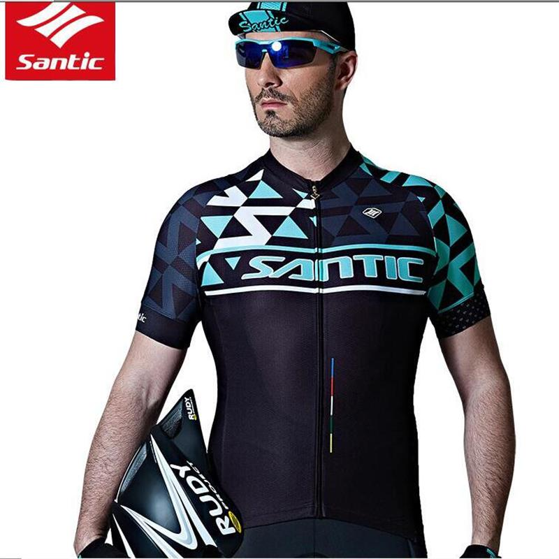 Santic Cycling Short-Sleeve Jersey Pro team  MTB Road Bike Clothing Antislip Sleeve Cuff Quick-dry Breathable Bicycle JerseysSantic Cycling Short-Sleeve Jersey Pro team  MTB Road Bike Clothing Antislip Sleeve Cuff Quick-dry Breathable Bicycle Jerseys