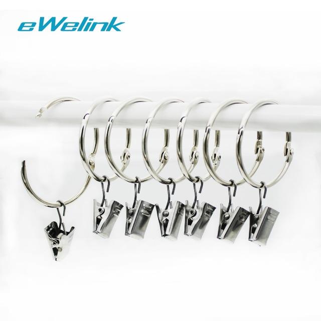 Ewelink 20pcs Stainless Steel Heavy Duty Curtain Clips W Hook Rings Clamps Drapery Kitchen Bathroom