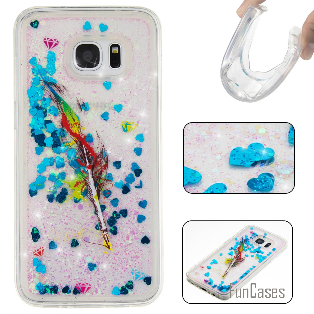 Funda Cute Quicksand Soft TPU Case For Samsung Galaxy S7 Edge Coque Cartoon Phone Case Carcasa Etui Ajax Caso For Samsng S7 EDGE
